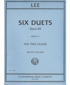 Lee Sebastian Six Duets, Op. 60, Book 2 Two Cellos edited by Walter Schulz - International Music